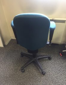 Used Teal Herman Miller Ambi Office Chairs