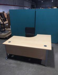 Used 1600mm N3+ Left Hand Radial Desk