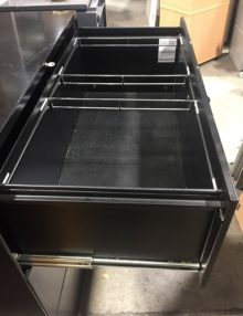 Used Black Metal 3 Drawer Side Filer