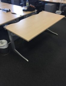 Used Maple 1600mm Office Desk
