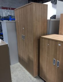 Used Senator Strata Oak 2m Storage Cupboard