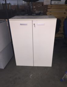 Used White Front 1200mm Storage Cupboards