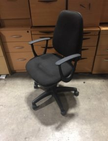 Used Black Fixed Arm OA Task Operator Chair
