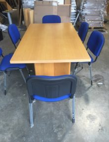Used Classic Oak 2m Boardroom Table
