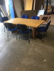 Used Classic Oak 1800mm Boardroom Table