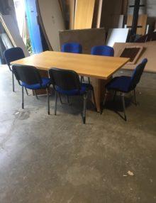 Used Classic Oak 1800mm Boardroom Table