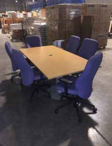 Used Light Oak 2m Boardroom Table
