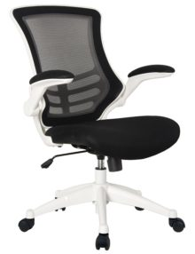 White Nylon Mesh Operator Office Chair