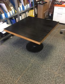 Used Black Square Coffee Table