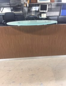 Used Kappler 3m Walnut Reception Desk