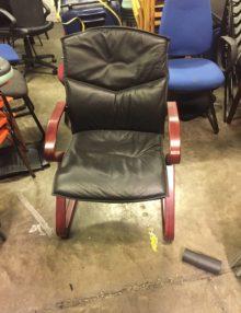 Used Senator Mahogany Cantilever Chair (2)