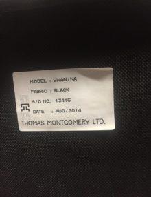Used Thomas Montegomery Black Meeting Chairs x 4