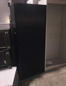 Used Black Triumph Single Door Tambour Cabinet