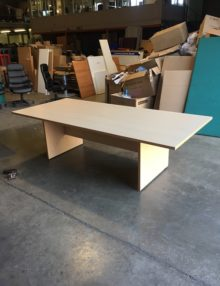 Used Della Rovere Maple 2400mm Boardroom Table