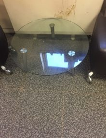 Used Glass Round Coffee Table