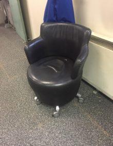 Used Orangebox TARN leather Mobile Armchair