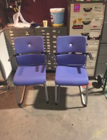 Used Steelcase Please Cantilever Chairs x 2 Set