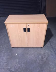 Used Beech 725mm High Storage Cupboard