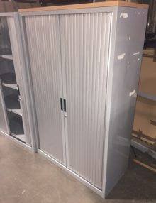 Used Metal 1600mm Tambour Cabinet