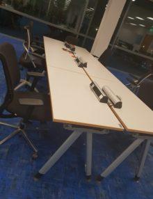 Used White Haworth 1200mm x 600mm Desk