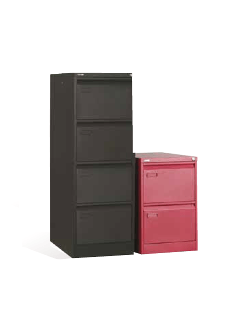 2 Drawer Colour Metal Filing Cabinet