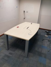 Used 2100mm Birch Slab End Boardroom Table