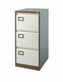Used Coffee & Cream 3 Drawer Filing Cabinet