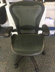 Used Herman Miller Aeron Ergonomic Office Chair - Jade