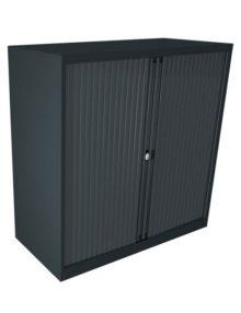 Bisley Anthracite Essential Tambour Cabinet - 1070mm