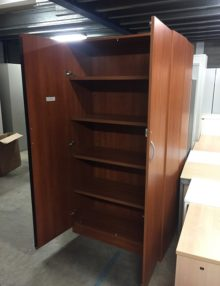 Used 2m Cherry Storage Cupboard