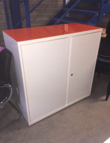 Used Bisley White Metal Storage Cabinet