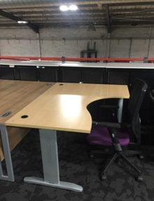 Used Buronomic Light Beech Radial Desk