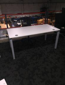 Used White Bene 1600mm Bench Office Desk