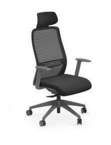 NV Ergonomic Office Chair - Grey Frame - Headrest.jpg