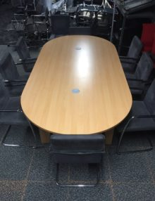 Used Beech 2400mm Oval Boardroom Table