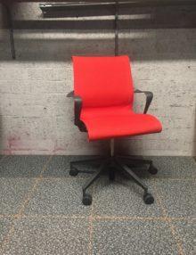 Used Red Herman Miller Setu Office Chair