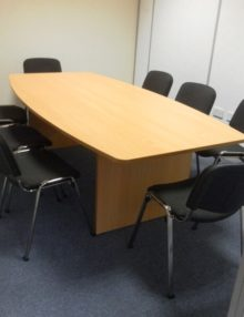 2400mm Slab End Boardroom Table