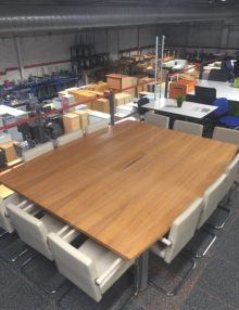 Used Veneer Barrel Boardroom Table