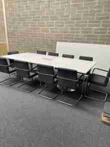 Used White 2700mm Boardroom Table