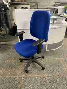 Used Vista Ergonomic Office Chair - Royal Blue