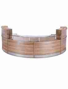 Curved Classic Reception Desk - 4 Piece