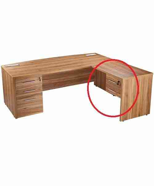Executive Fixed 2 Drawer Pedestal