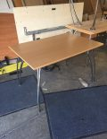 Used 1200mm Beech Tables - Chrome Legs