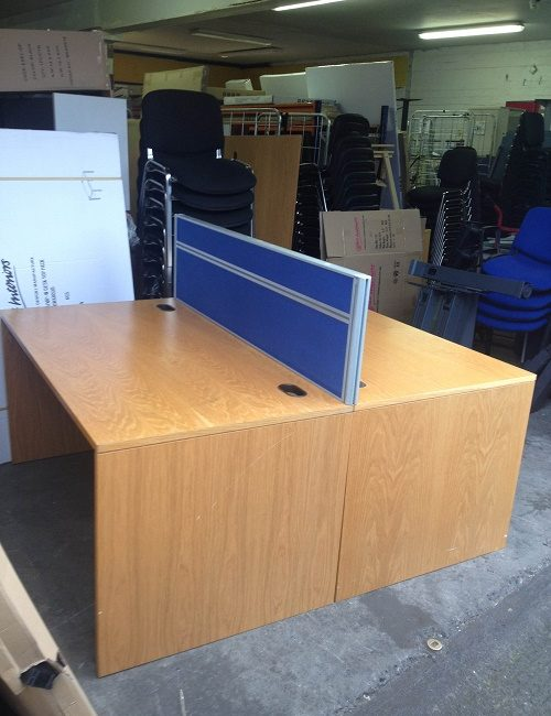 Used 1500mm Oak Office Desk