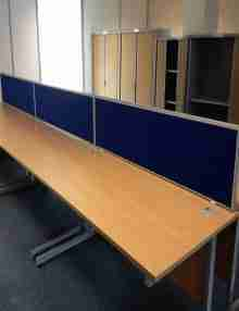 Used Beech 1600mm Office Desks