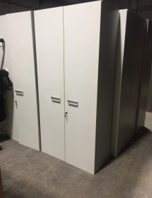 Used 2m White Door Storage Cupboard