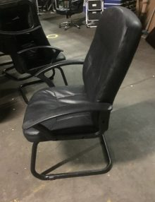 Used Apollo Black Leather Boardroom Chairs