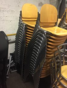 Used Beech Canteen Chairs
