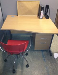 Used Beech Senator Wave Desk
