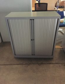 Used Bisley 1m Tambour Cabinet